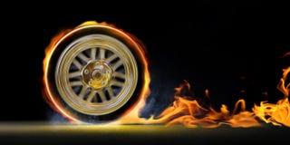 Velocidade e incêndio Imagens de Stock Royalty Free