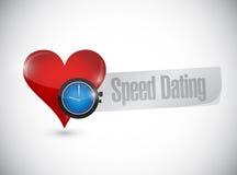 velocidade que data o conceito do sinal do relógio do coração Fotos de Stock Royalty Free