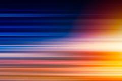 Velocidade rápida do borrão horizontal para acelerar altamente para executar a luz imagens de stock