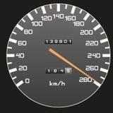 Velocidade superior - ilustração do velocímetro Fotos de Stock Royalty Free