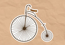 Velocipede (High Wheel Bicycle). Illustration of a Velocipede (High Wheel Bicycle) -  illustration Stock Photography