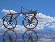velocipede nel cielo fotografia stock libera da diritti