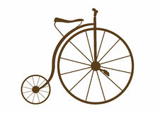 Velocipede. Vector illustration of an antique bicycle, EPS 8 file Stock Illustration