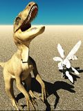 Velociraptor η τρισδιάστατη απόδοση δεινοσαύρων Στοκ εικόνες με δικαίωμα ελεύθερης χρήσης