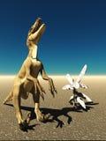 Velociraptor η τρισδιάστατη απόδοση δεινοσαύρων Στοκ φωτογραφία με δικαίωμα ελεύθερης χρήσης