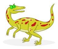 Velociraptor de dinosaure de bande dessinée Images stock