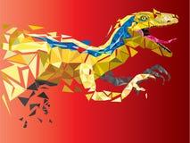 Velociraptor del dinosauro nello stile geometrico del modello ENV 10 Immagine Stock