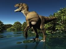 Velociraptor die Wiedergabe des Dinosauriers 3d Stockbilder