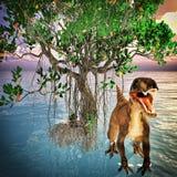 Velociraptor die Wiedergabe des Dinosauriers 3d Lizenzfreies Stockfoto