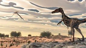 Velociraptor dinosaur - 3D render Stock Image