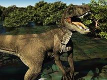 Velociraptor la rappresentazione del dinosauro 3d Immagine Stock Libera da Diritti