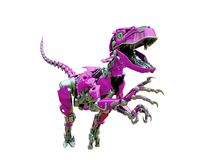 Free Velociraptor Robot Jumping Stock Photo - 165158530