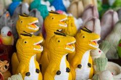 Velociraptor statue. For home decorative Stock Photo