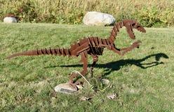 Velociraptor und sein Schatten Stockfotos