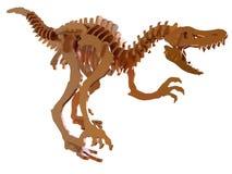 Velociraptorskelett vektor abbildung