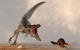 Velocirator chassant le mammifère illustration stock