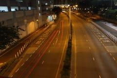 Velocità che corre alla notte silenziosa Fotografia Stock