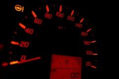 Velocità del calibro di automobile Fotografie Stock Libere da Diritti