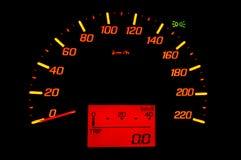 Velocità del calibro di automobile Fotografia Stock