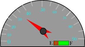 velocità del motore sul motore illustrazione di stock