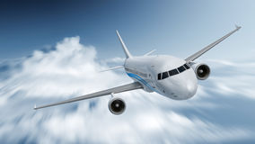Velocità dell'aeroplano Fotografie Stock