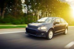 Velocità dell'automobile Fotografie Stock Libere da Diritti