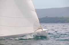Velocità della barca a vela Fotografie Stock Libere da Diritti