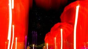 Velocità della luce al neon degli ombrelli Fotografia Stock Libera da Diritti