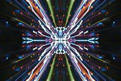 Velocità della luce, via astratta Fotografie Stock