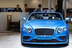 Velocità di Bentley GTC allo IAA 2015 fotografie stock libere da diritti