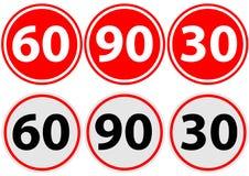 velocità di limite del segnale stradale Immagini Stock Libere da Diritti