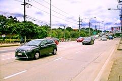 Velocità frettolosamente al chilometro 1 strada di Ramintra immagine stock