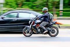 Velocità frettolosamente al chilometro 1 strada di Ramintra fotografie stock libere da diritti