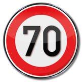 Velocità massima 70 Fotografia Stock Libera da Diritti