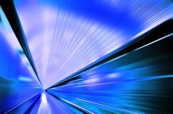 Velocità sulla strada moderna Immagini Stock