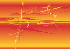 Velocity Background. Vector background expressing speed and impact, red and yellow, horizontal Stock Photography