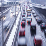 Velocity on highway Royalty Free Stock Photos
