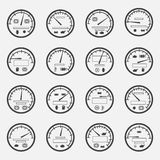 Velocity meters symbols vector illustration Royalty Free Stock Photography