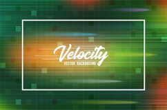 Velocity vector background 03. High speed and Hi-tech abstract technology concept background. Royalty Free Stock Images