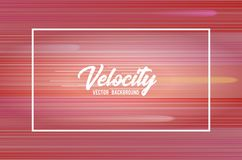Velocity vector background 01. Speed movement pattern design Royalty Free Stock Image