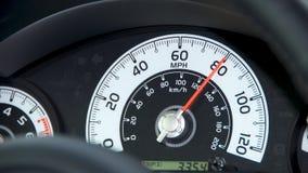 Velocímetro del coche Imagen de archivo libre de regalías