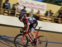 Velodrome bike race Royalty Free Stock Photo