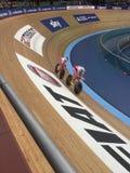 Velodrome. Cycling in the velodrome Stock Photo