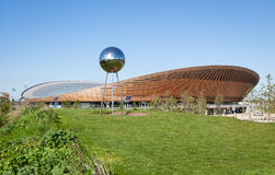 The Velodrome Cycling Arena in Queen Elizabeth Olympic Park. Stock Images