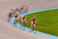 Velodrome das mulheres que dá um ciclo - final do risco 12K Foto de Stock Royalty Free