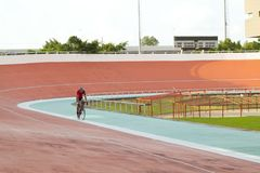 Velodrome. Professional beautiful cycle track. Velodrome Stock Photo