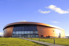 Velodrome Saint-Quentin-en-Yvelines. French velodrome Saint-Quentin-en-Yvelines, located in the department of Yvelines near Paris and has just been completed Stock Photos