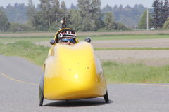 Velomobile, Bicycle Car or Recumbent Bike Royalty Free Stock Photos