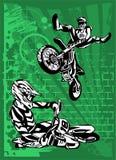 Velomotor. ilustração stock