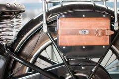 Velomotor antiquado do mensageiro Foto de Stock Royalty Free